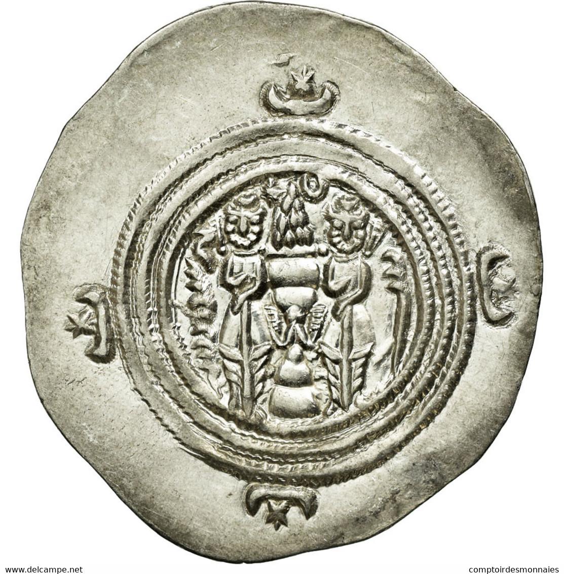 Monnaie, Royaume Sassanide, Chosroès II, Drachme, AY (Eran-xwarrah-Shapur) - Orientales