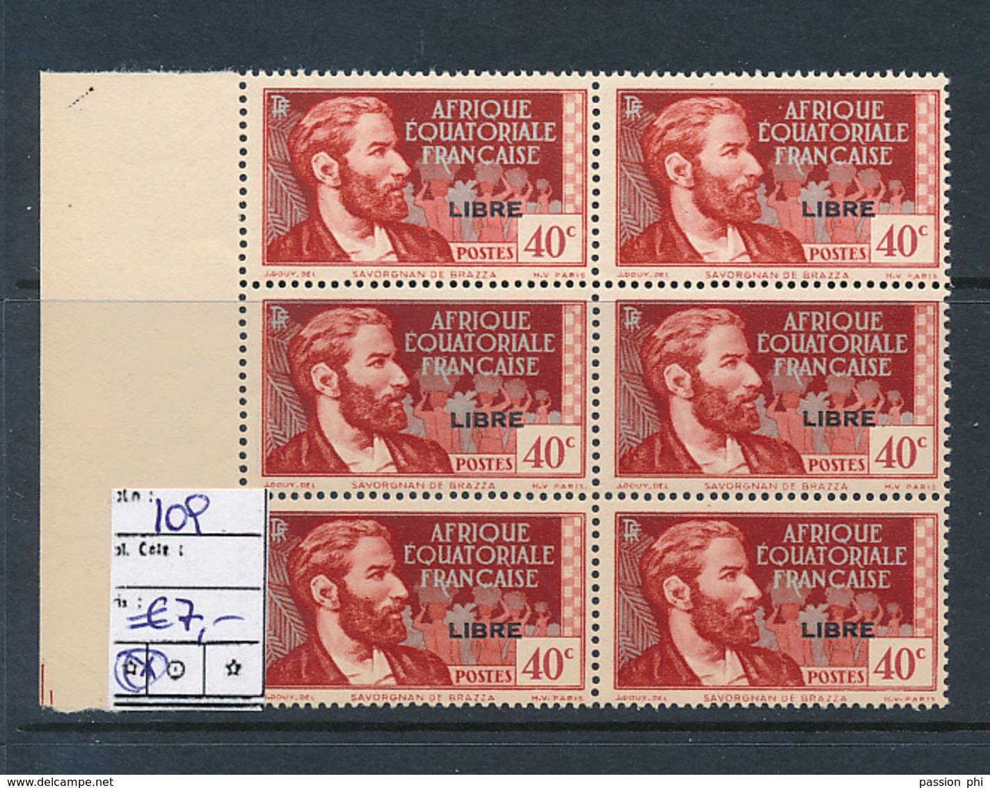 AEF FRANCE LIBRE MAURY DALLAY 109 MNH SANS CHARNIERE - A.E.F. (1936-1958)