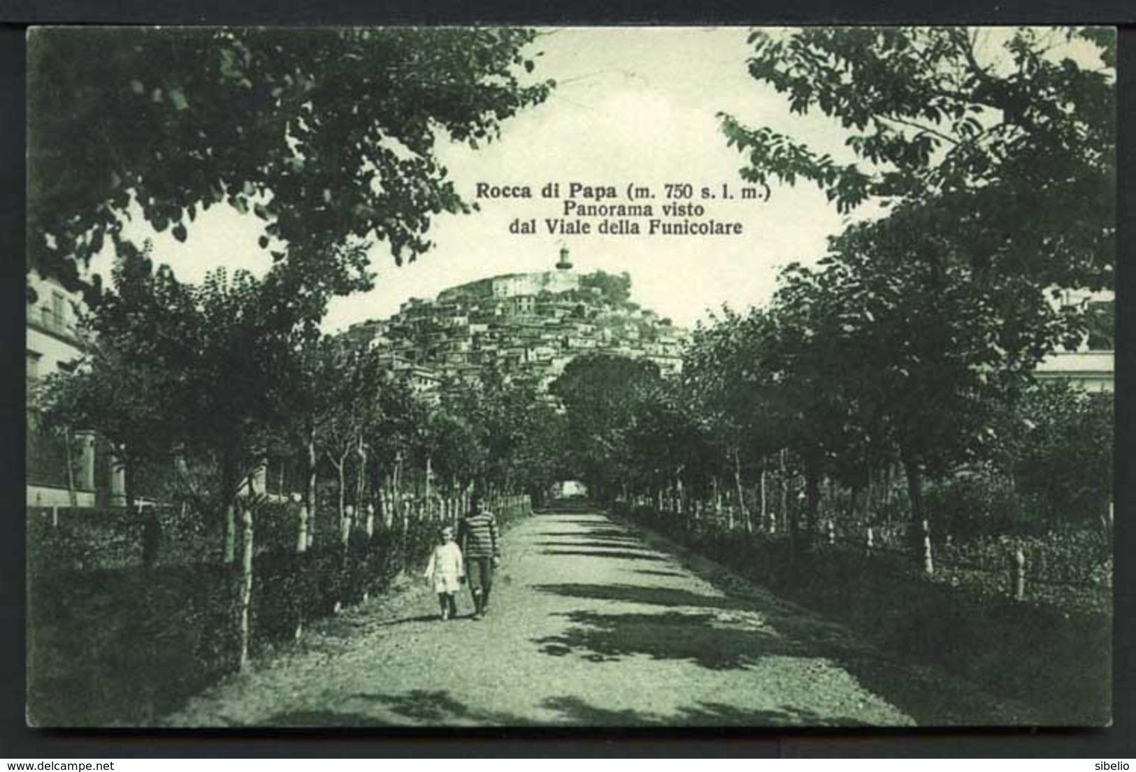 Rocca Di Papa - Panorama Visto Dal Viale Delle Funicolare - Viaggiata In Busta 1932 - Rif. 03261 - Italia
