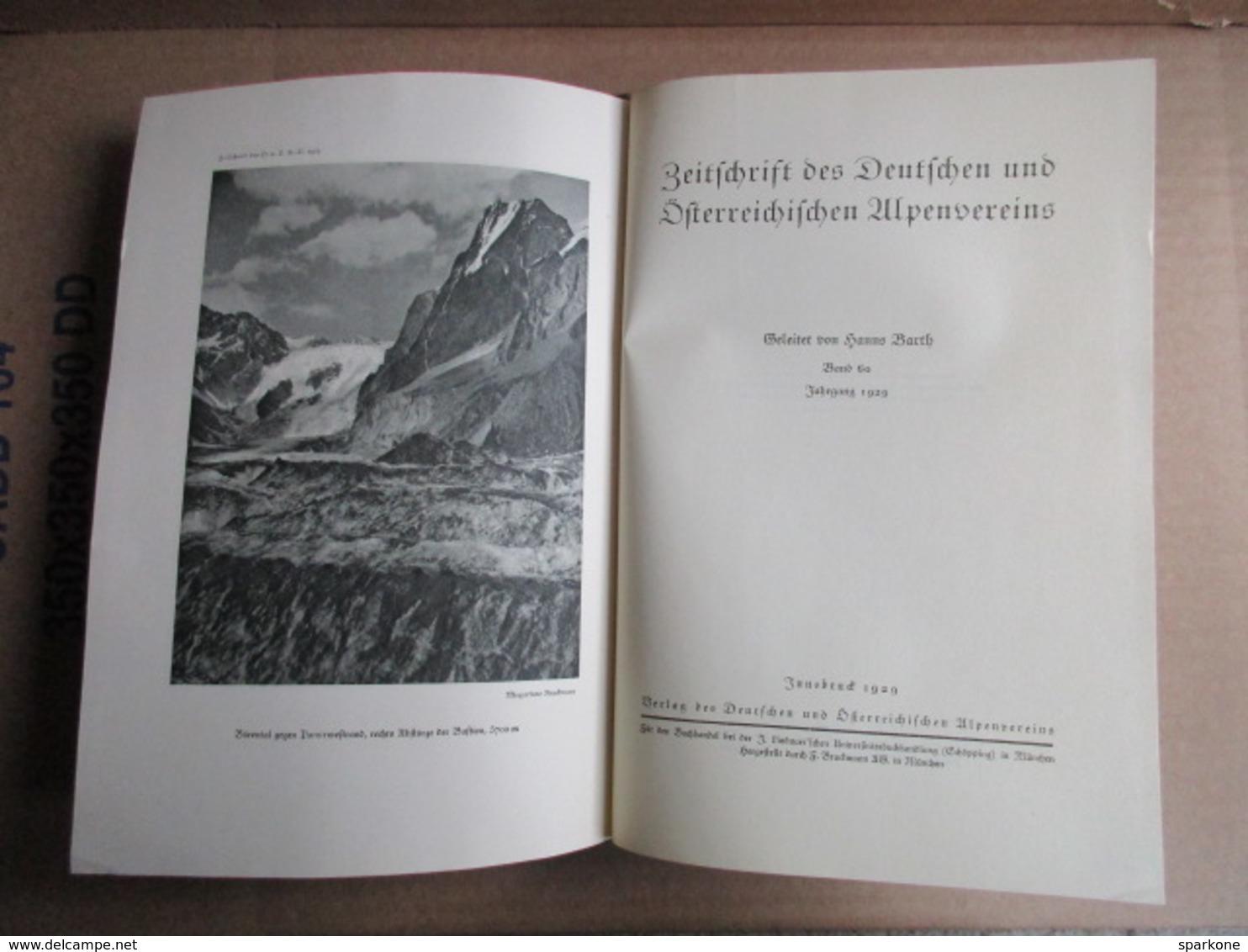 Zeitschrift Des Deutschen Und Österreichischen Alpen-Vereins De 1929 / Band 60 - Livres, BD, Revues