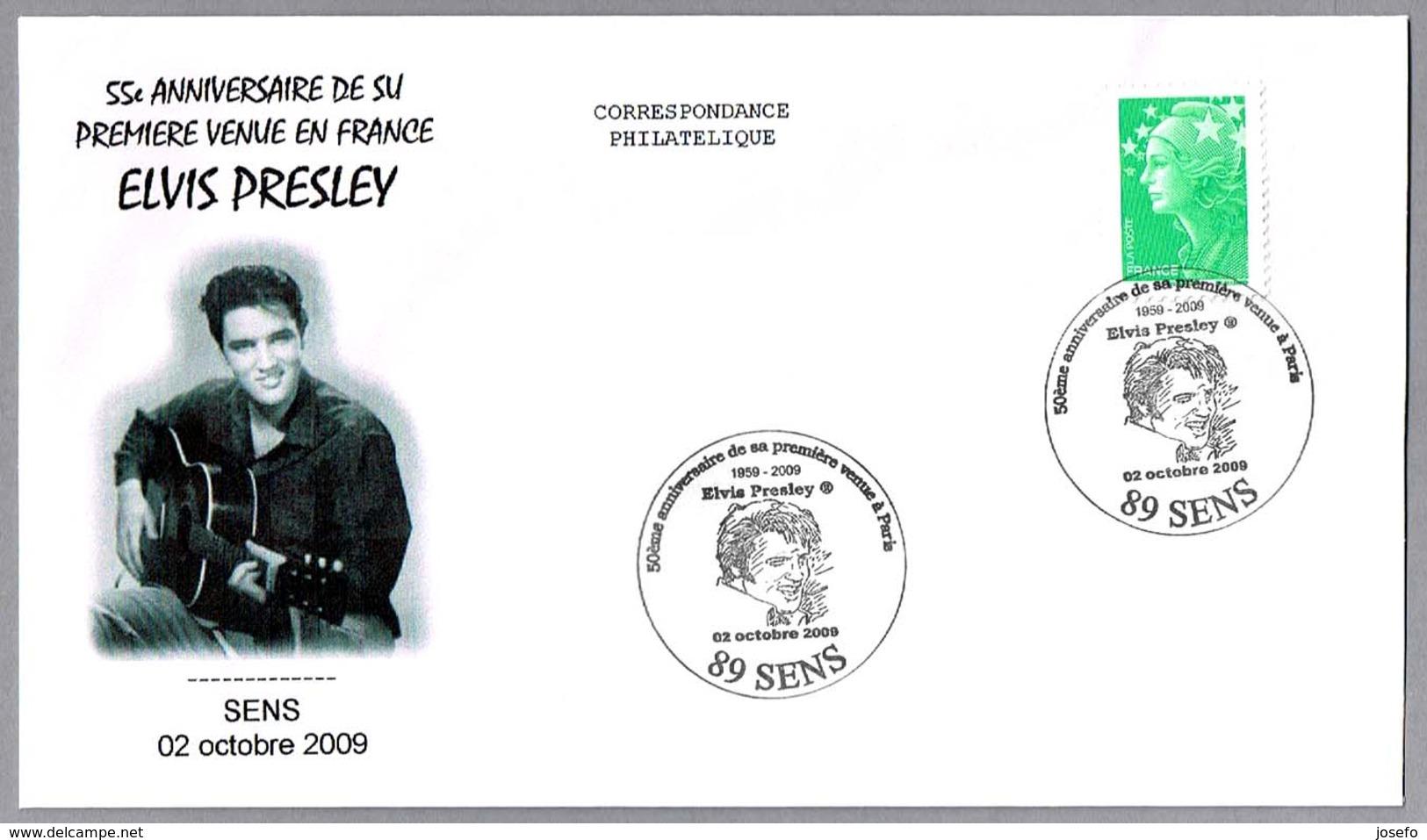 55 Aniv. ELVIS PRESLEY En FRANCIA - 55 Anniv. Elvis Presley In France. Sens 2009 - Elvis Presley