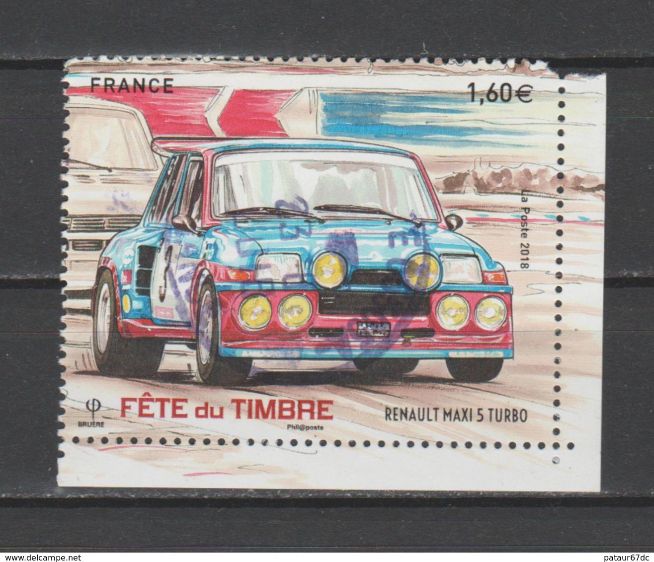 FRANCE / 2018 / Y&T N° 5205 : Renault Maxi 5 T (2ème Choix : Coin SUP D) - Oblitéré Cachet Rond (juin 2018) - France