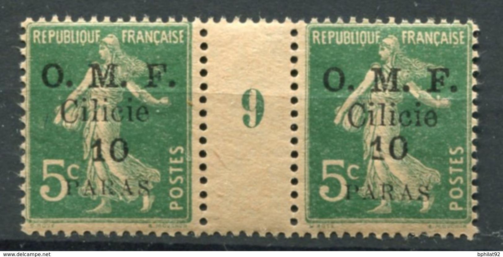!!! PRIX FIXE : CILICIE, PAIRE DU N°90 AVEC MILLESIME 9 NEUVE ** - Cilicia (1919-1921)
