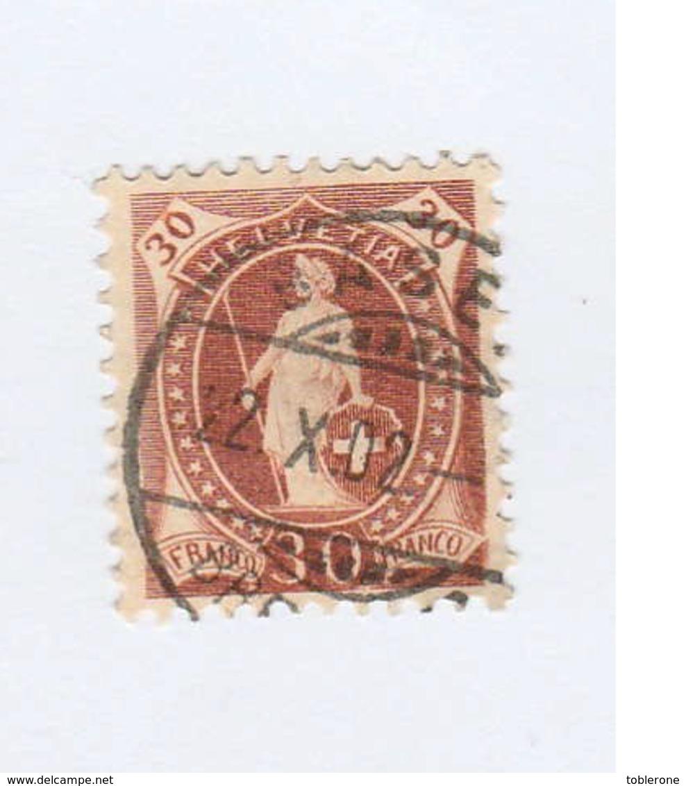 SUISSE N° 74 Ob  Cote 2,50 Euros - 1882-1906 Wappen, Stehende Helvetia & UPU