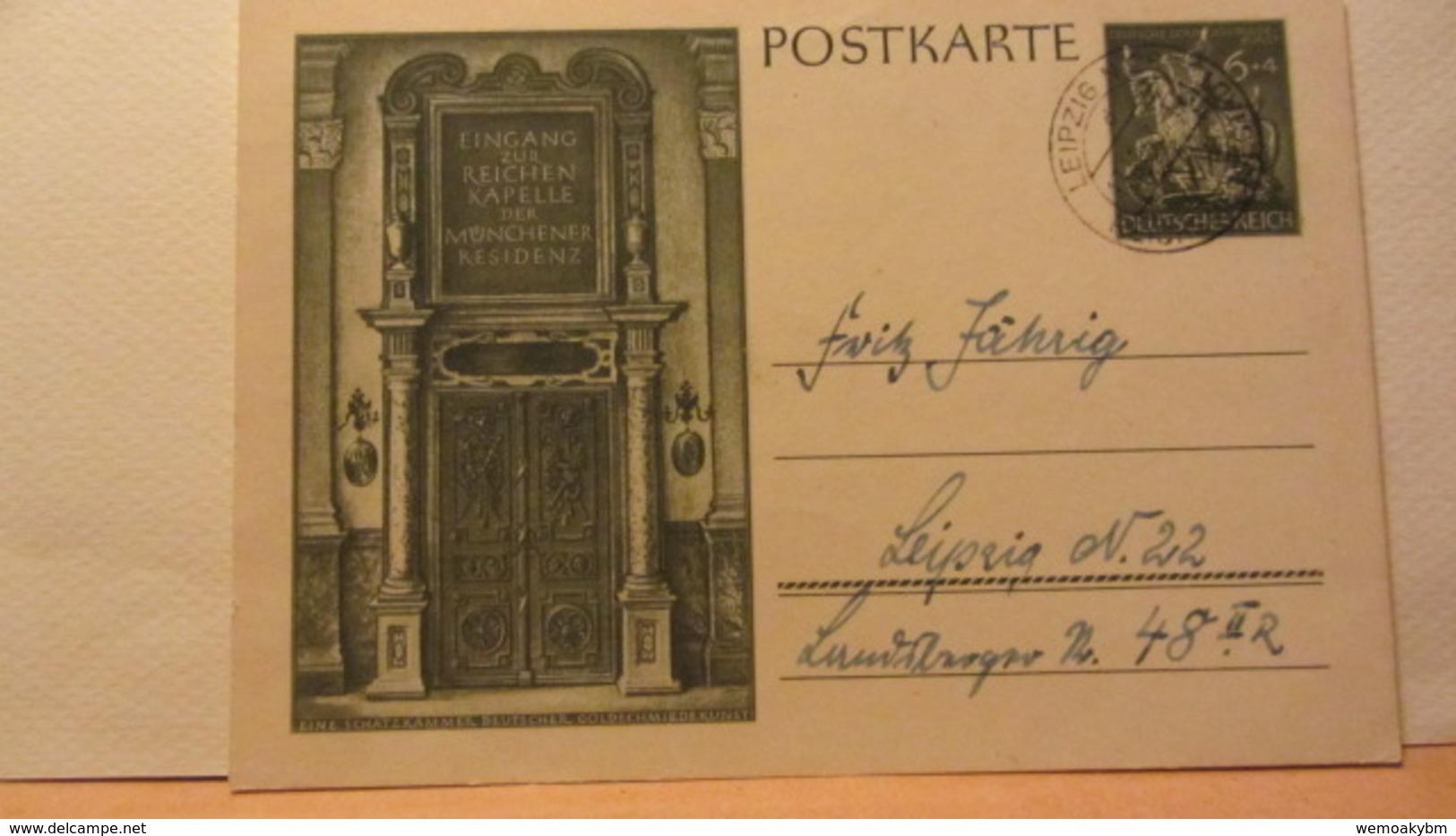 DR: GA  P 296 * Dt. Goldschmiedekunst 1943 Ritter Sankt Georgl Aus Leipzig Vom 13.11.43 - Gute Erhaltung - Deutschland