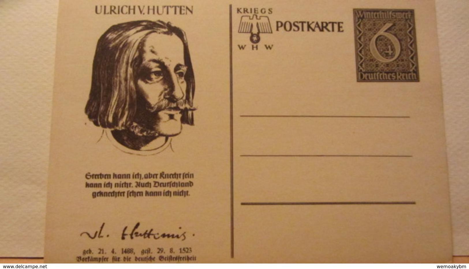 DR: GA  P 285 /03  Ulrich Von Hutten Winterhilfswerk 1939 Ungebraucht - Deutschland