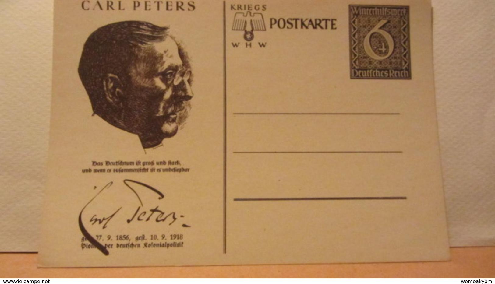 DR: GA  P 285 /06 * Carl Peters Winterhilfswerk 1939 Ungebraucht - Deutschland