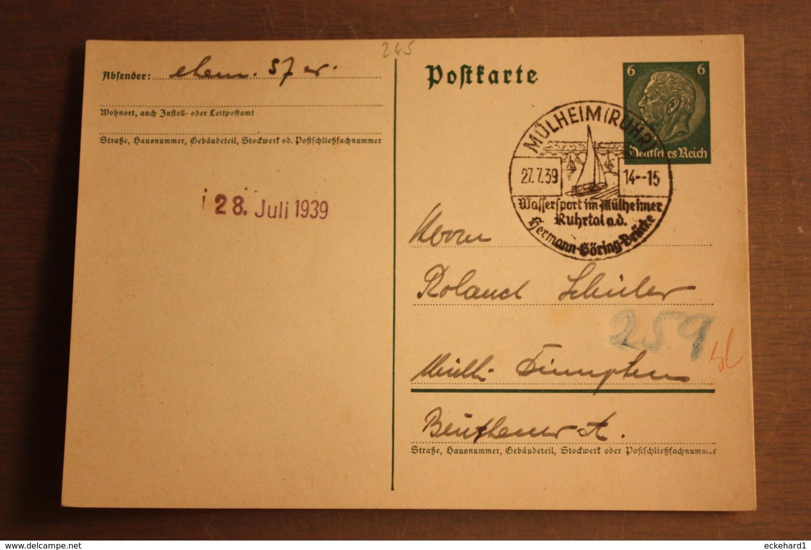 ( 1907 ) GS DR  P 226 I  Gelaufen  -   Erhaltung Siehe Bild - Postwaardestukken