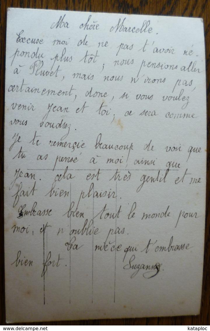 CARTE ANCIENNE - SUPERBE PORTRAIT FEMME AVEC FLEURS 1- SCANS RECTO VERSO - Femmes
