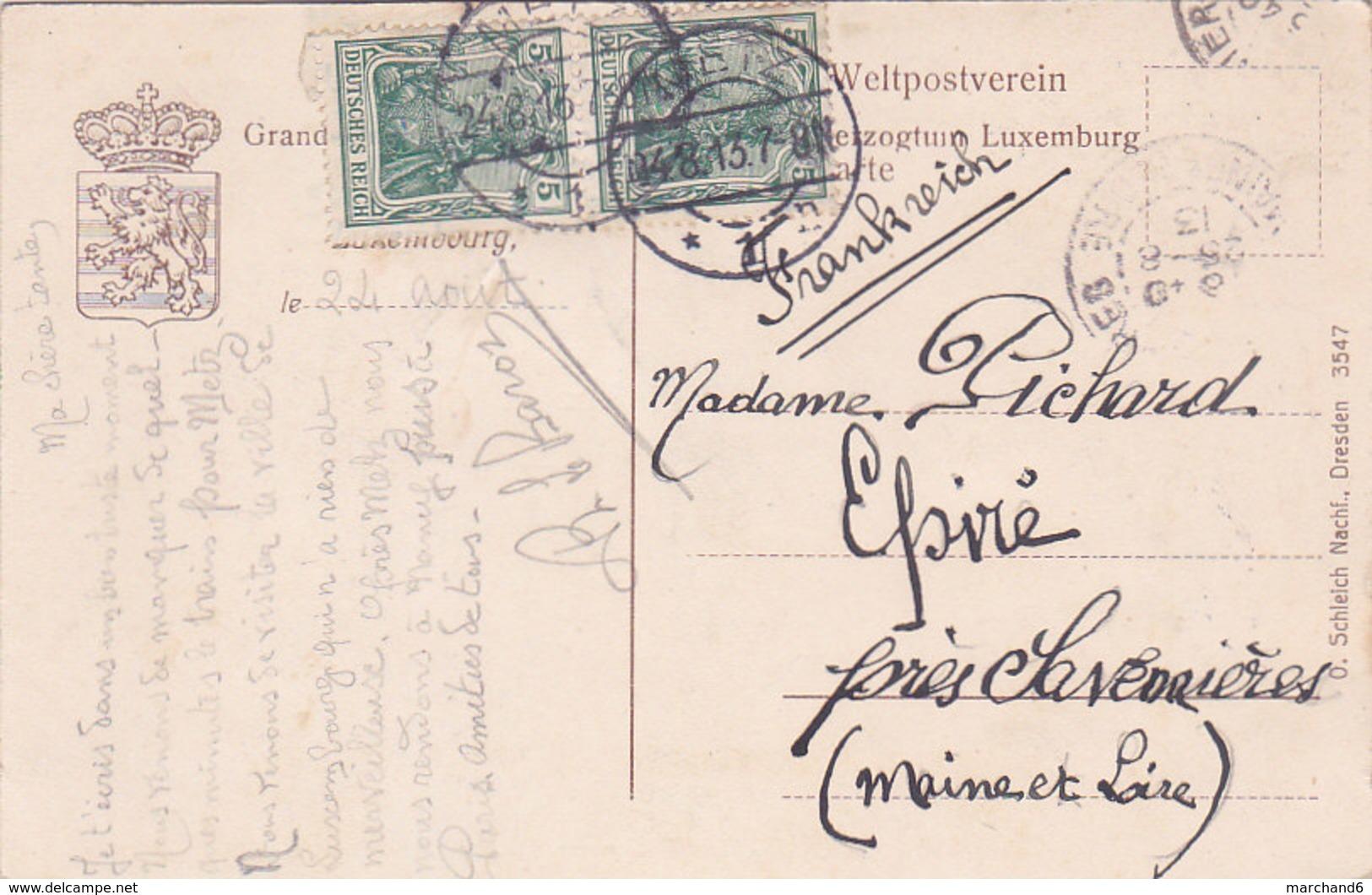 Luxembourg  éditeur O Schleich Nachf N°3547 - Luxembourg - Ville