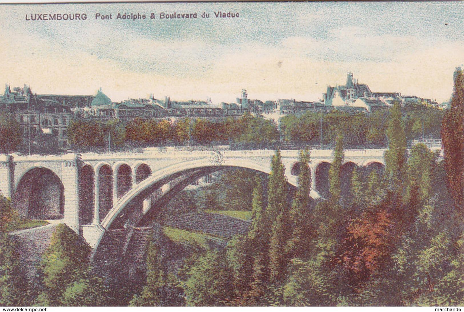 Luxembourg Pont Adolphe & Boulevard Du Viaduc éditeur Maison De Gros P Houstraas N°57 - Luxembourg - Ville