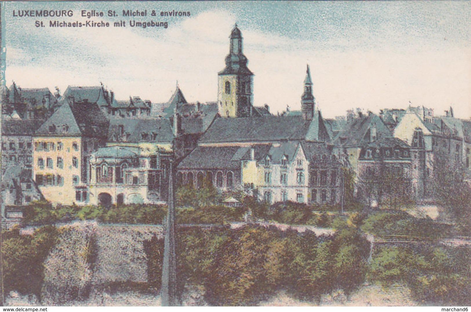 Luxembourg église St Michel & Environs éditeur Maison De Gros P Houstraas N°65 - Luxembourg - Ville