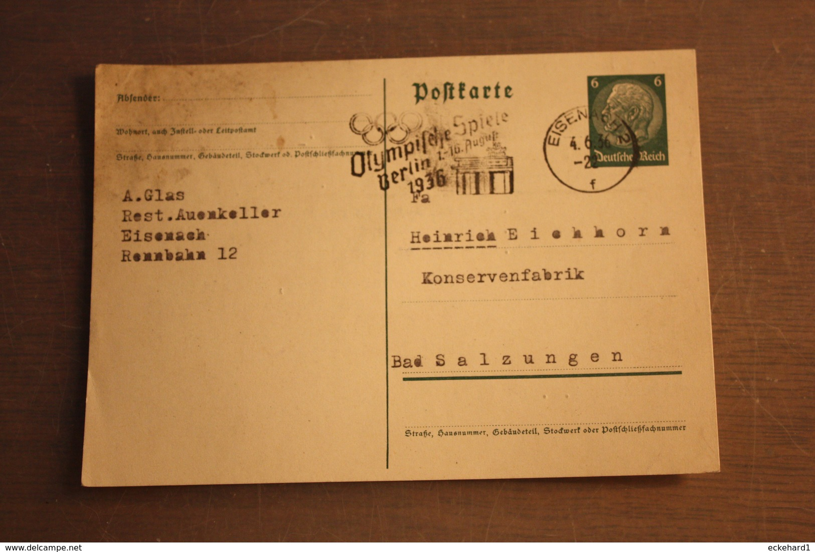 ( 1932 ) GS DR  P 226 I  Gelaufen  -   Erhaltung Siehe Bild - Postwaardestukken
