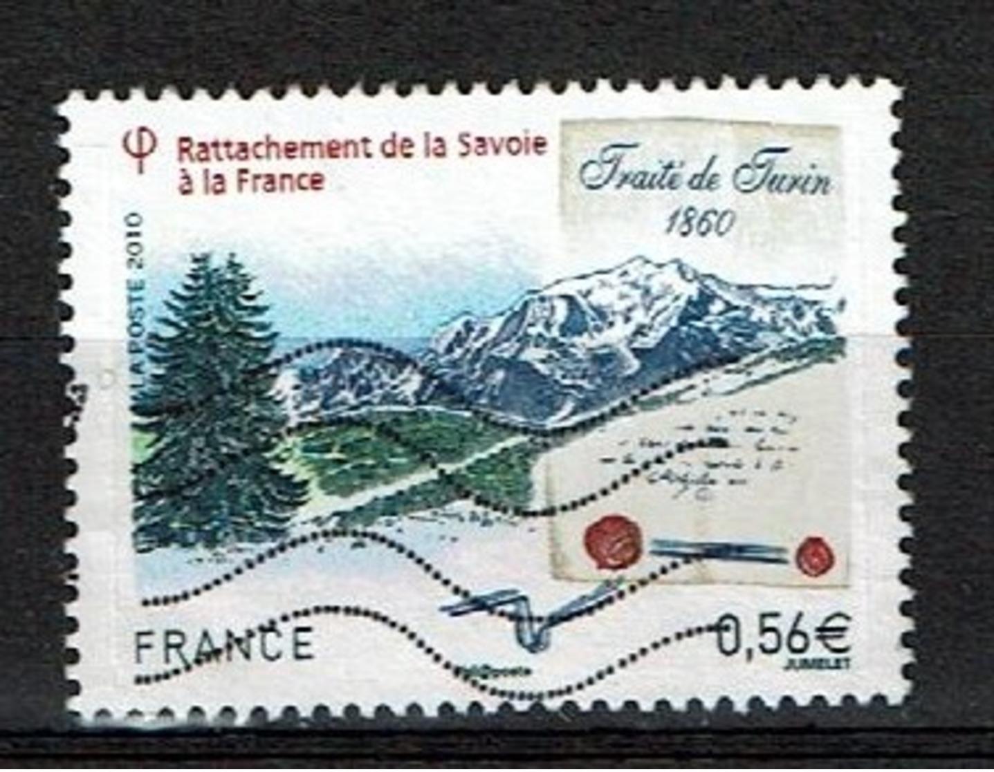 Traité De Turin N°4441 Oblitéré Année 2010 - France