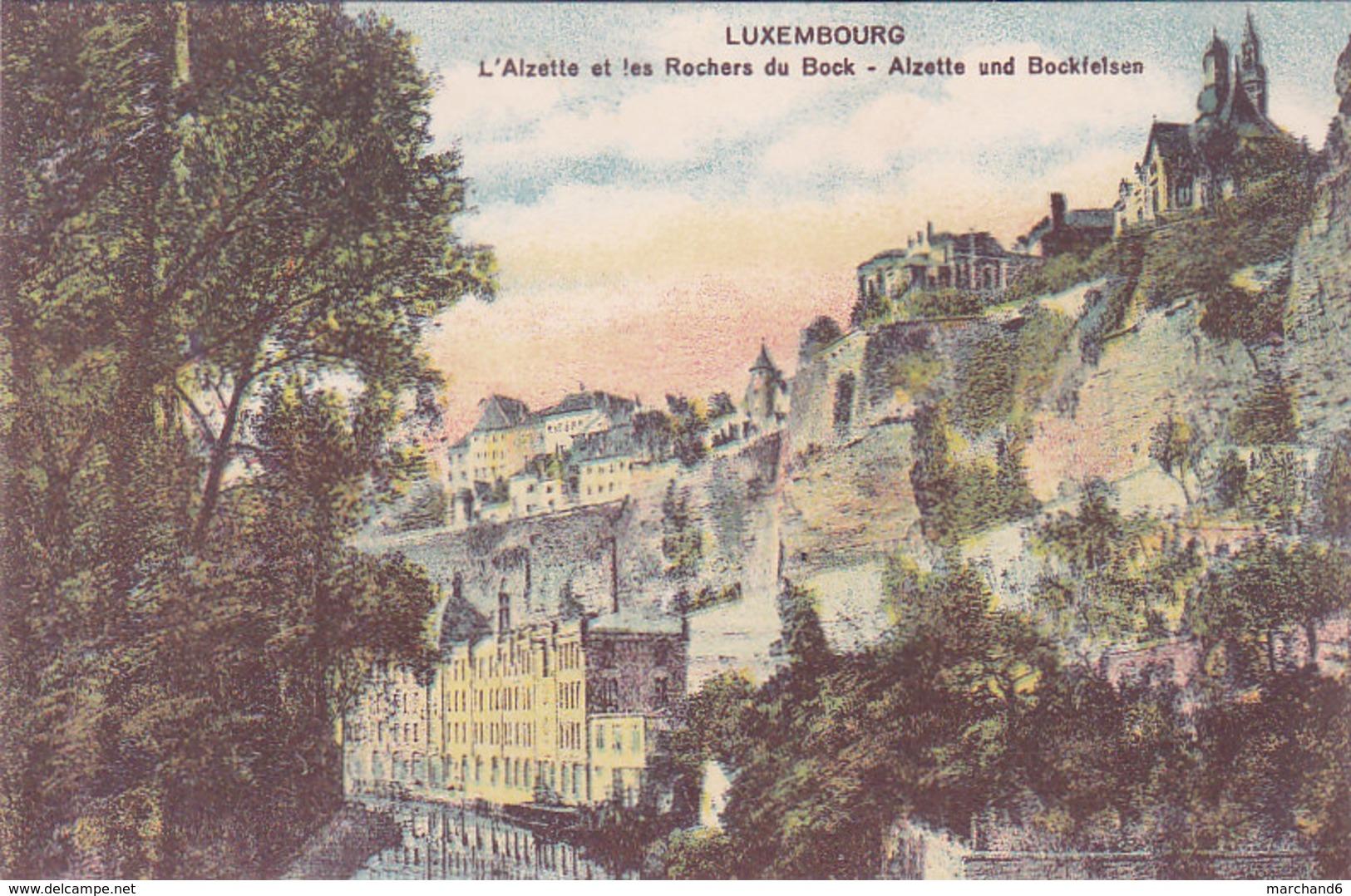 Luxembourg L Alzette Et Les Rochers Du Bock Alzette Und Bockfelsen éditeur Maison De Gros P Houstraas N°4 - Luxembourg - Ville