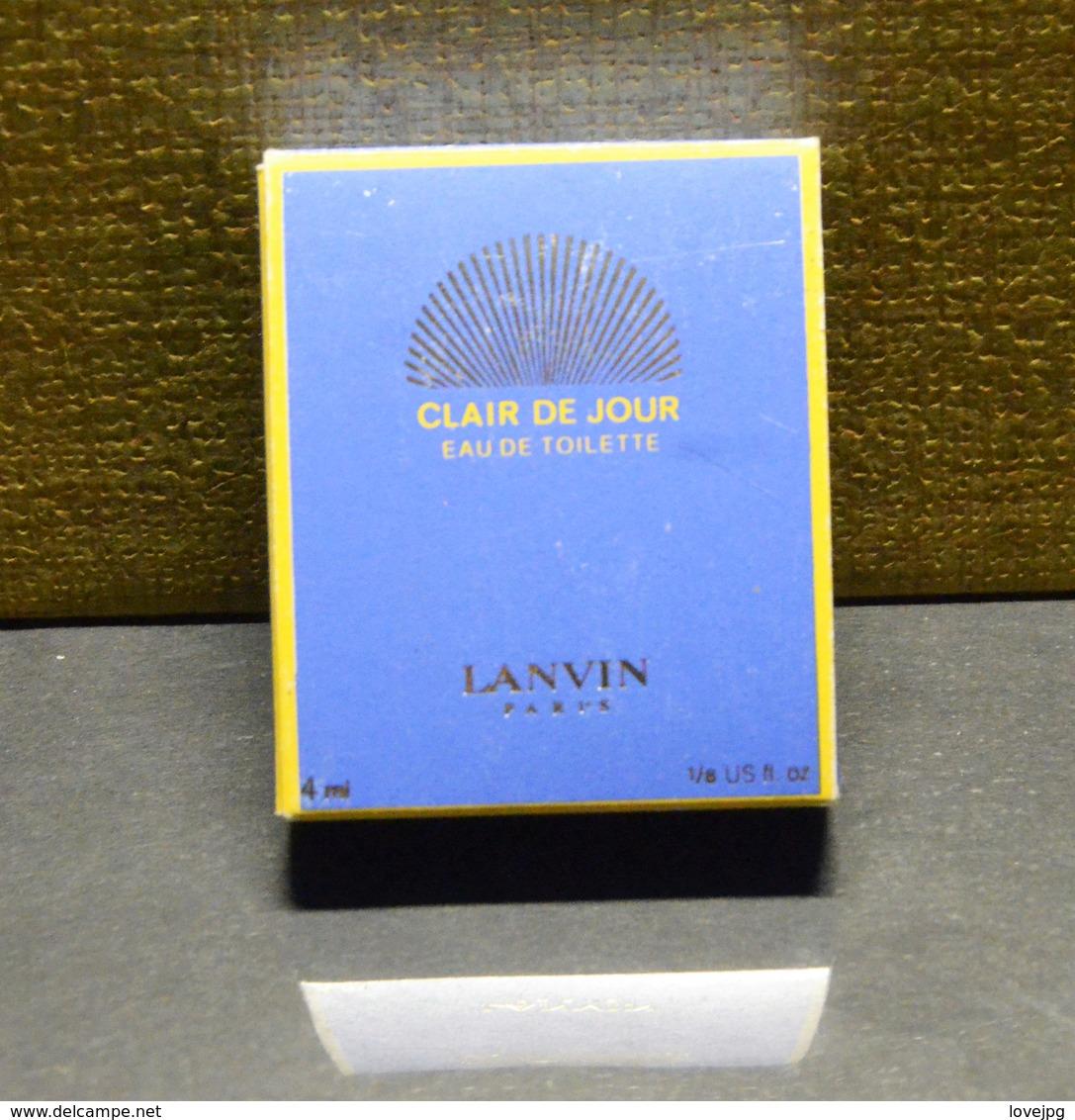 Miniature CLAIR DE JOUR LANVIN 4 ML - Miniatures Modernes (à Partir De 1961)