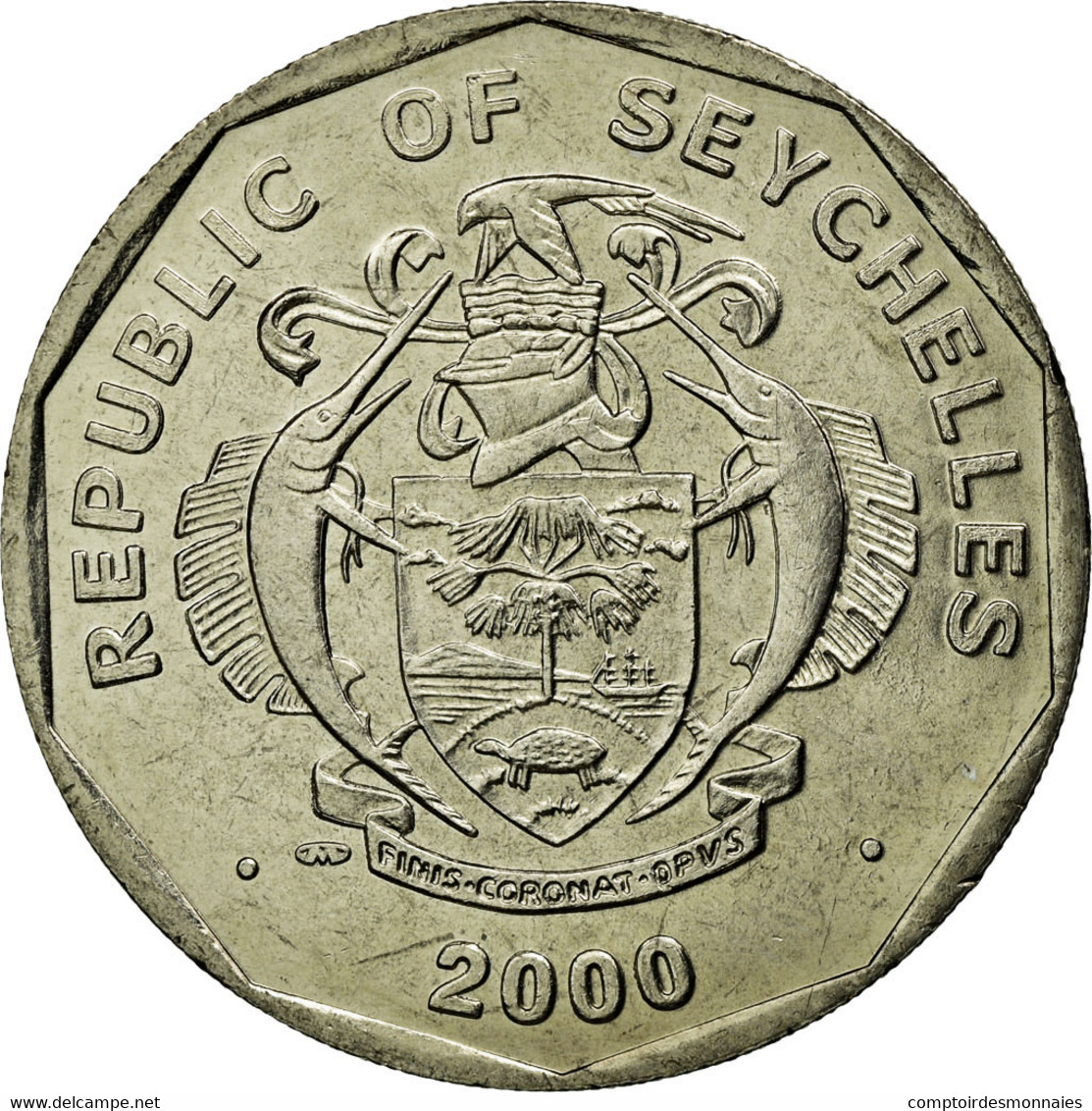 Monnaie, Seychelles, 5 Rupees, 2000, British Royal Mint, SPL, Copper-nickel - Seychelles