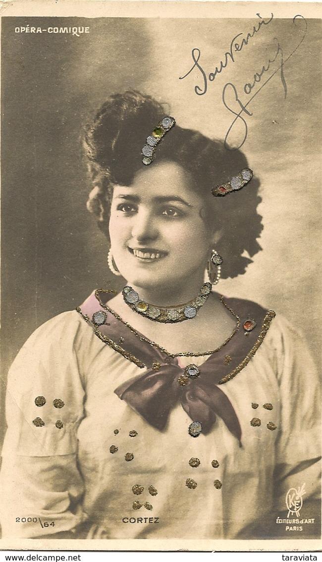 Alice CORTEZ  Chanteuse Opéra Artiste Femme - Artistes