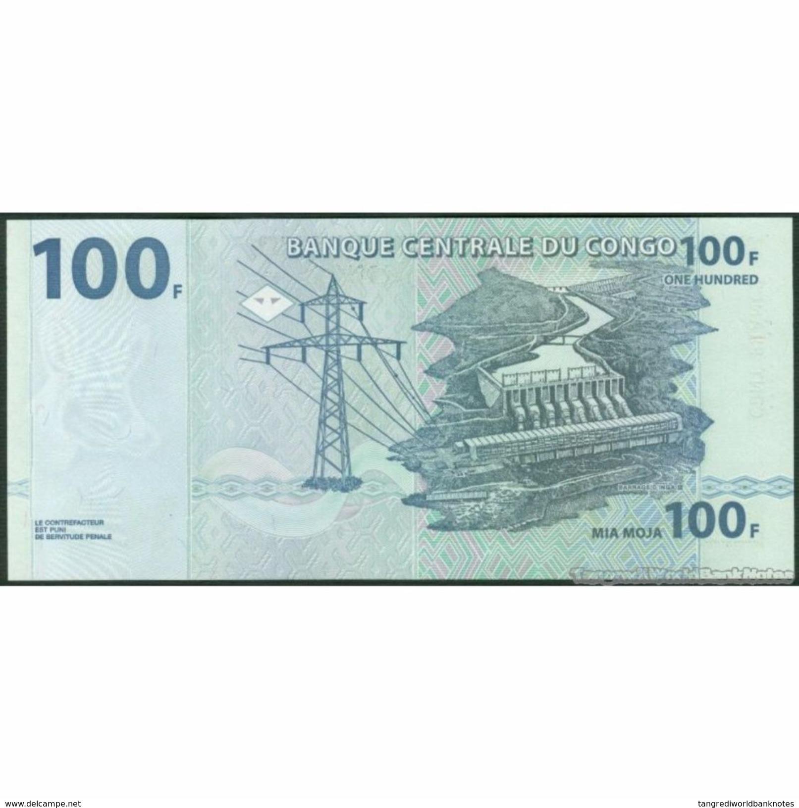 TWN - CONGO DEM. REP. 92A - 100 Francs 4.1.2000 MA-R (HdM) UNC - Congo