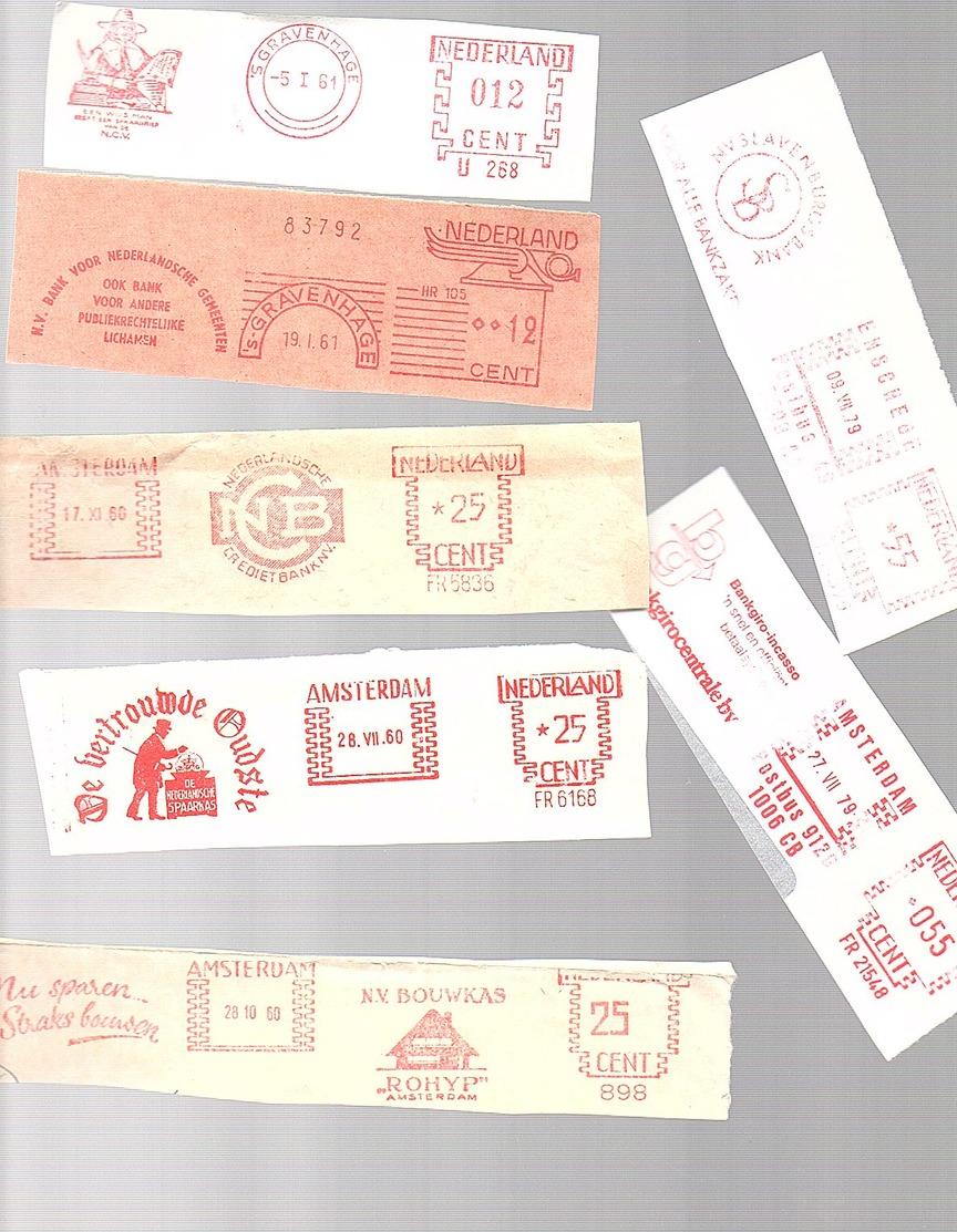 Roodfrankeringen Levensverzekeringsmaatschappijen Jaren '60 (2 Van Jaren '70) (CC-73) - Marcofilie - EMA (Print Machine)
