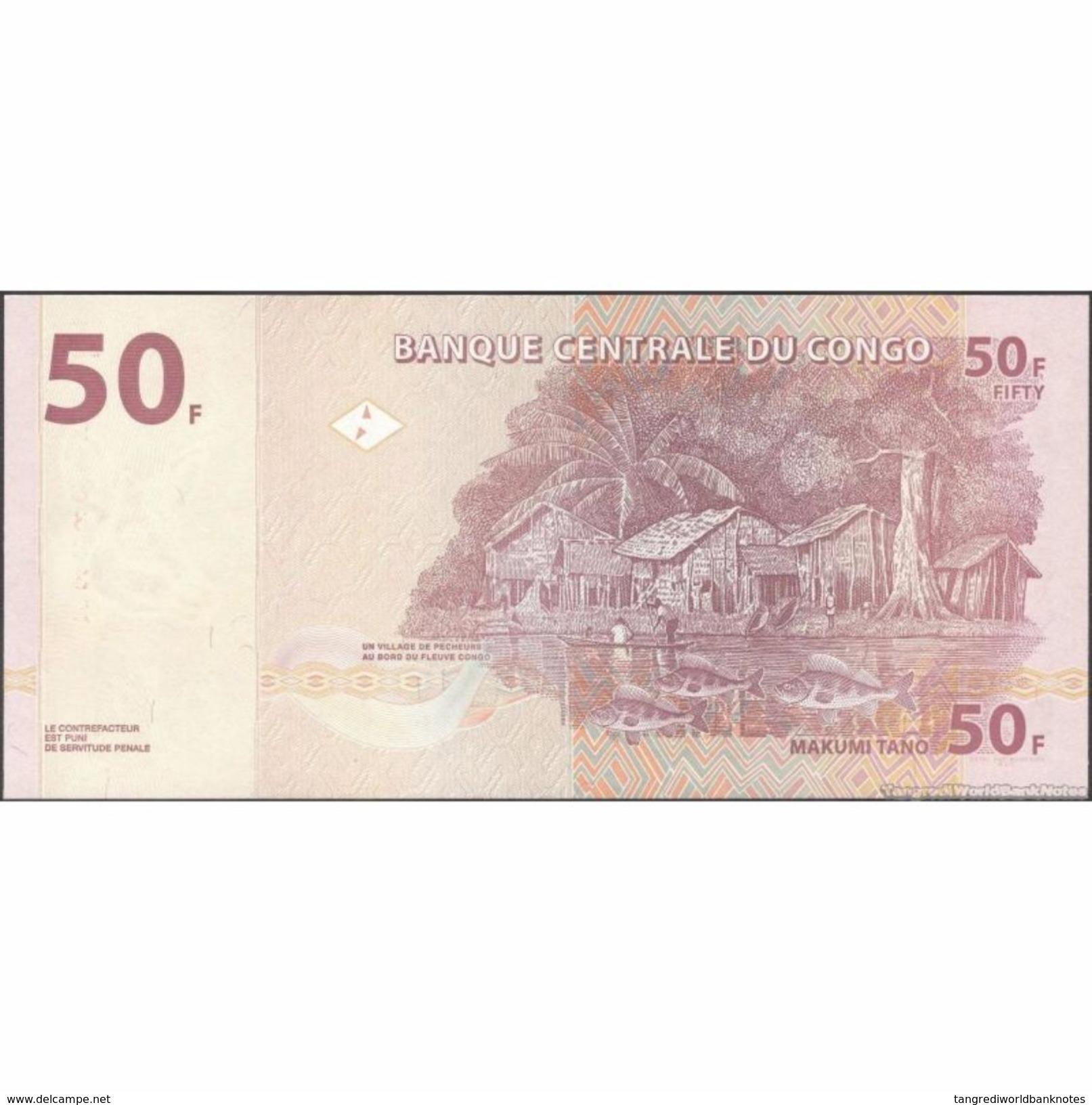 TWN - CONGO DEM. REP. 97A - 50 Francs 30.6.2013 KD-K (HdM) UNC - Congo