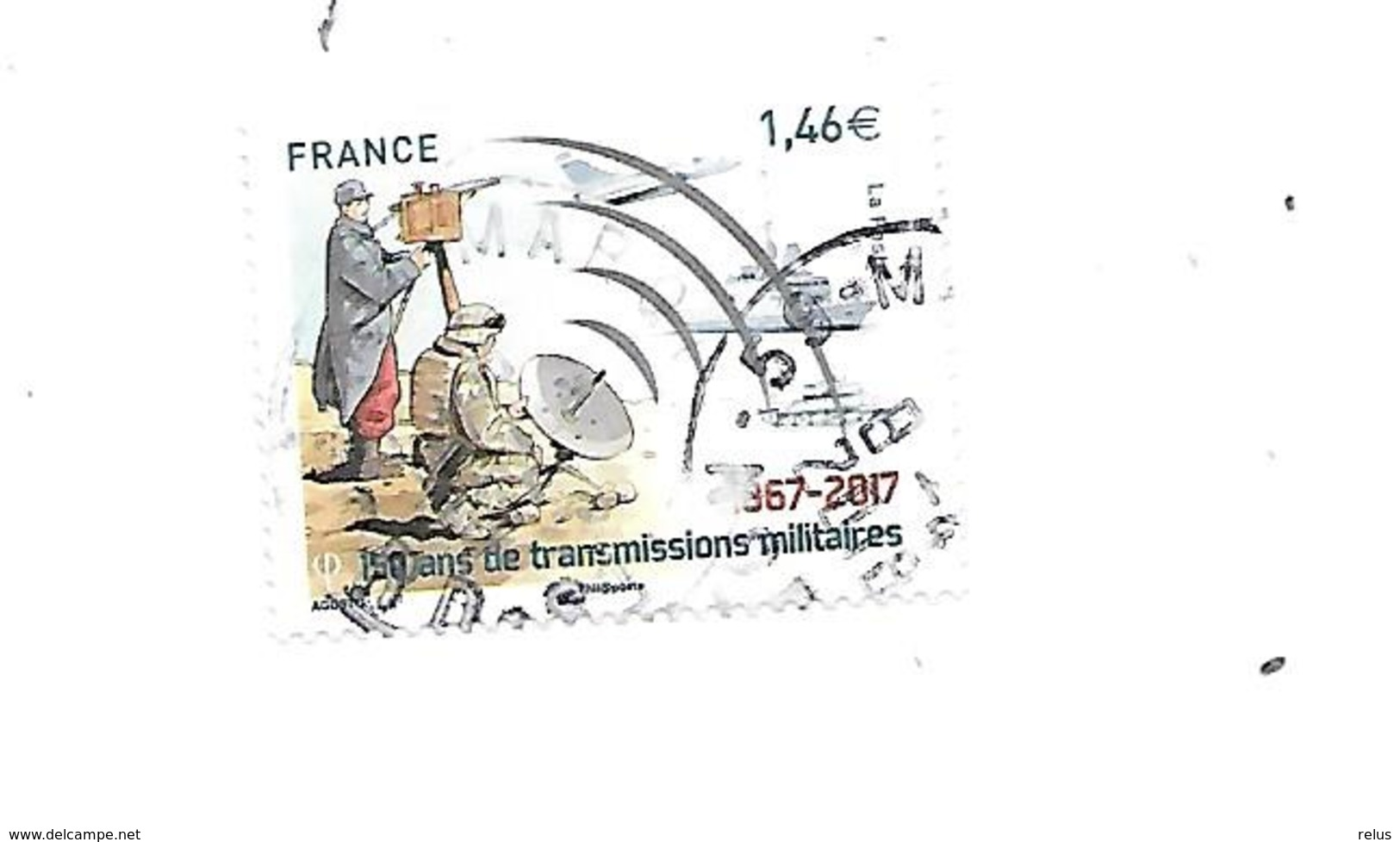 150 Ans Des Transmissions Militaires 5172 Oblitéré 2017 - France