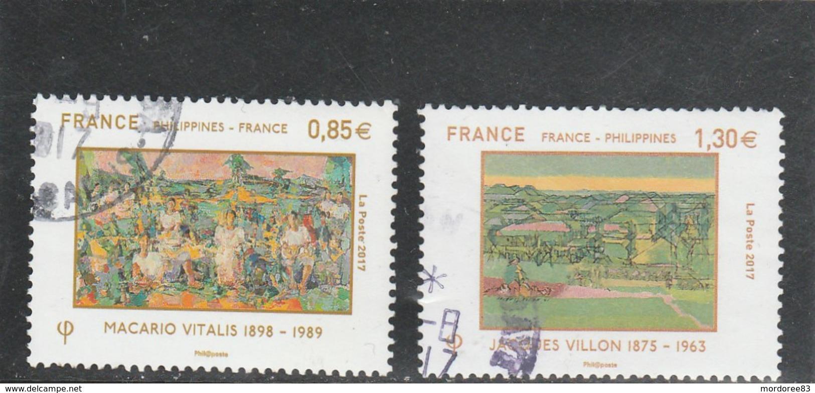 FRANCE 2017 -YT  5159 +5160  - FRANCE PHILIPPINES- OBLITERE - - France