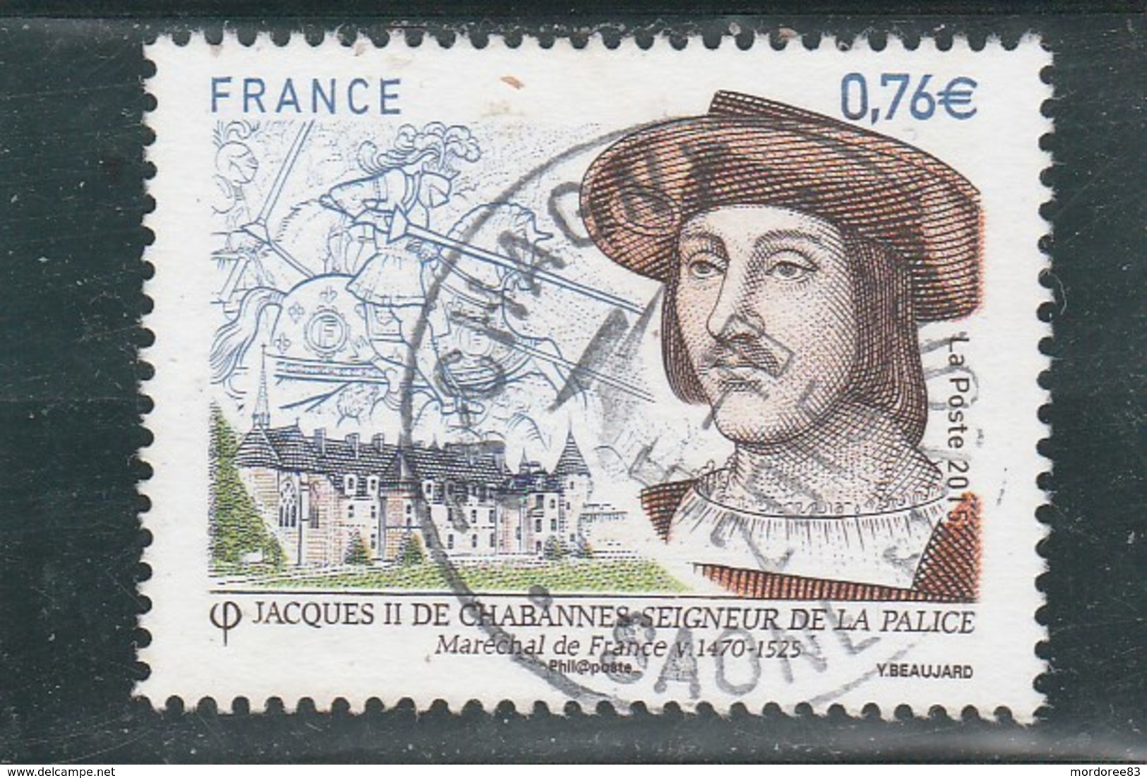 YT 4955 JACQUES II DE CHABANNES 2015 OBLITERE A DATE - France