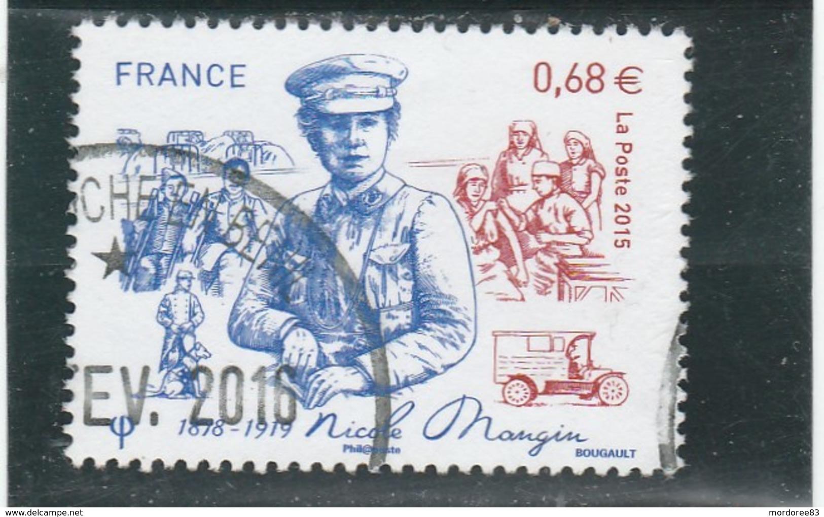 FRANCE 2015 NICOLE MANGIN 1878-1919 OBLITERE A DATE YT 4936 - - France