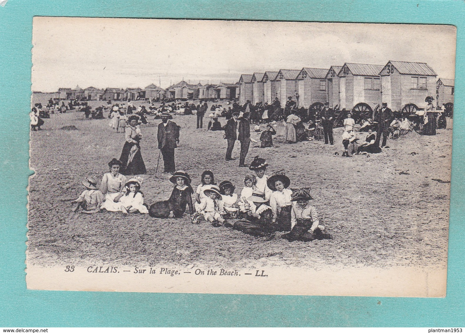 Old Post Card Of Sur La Plage,Calais,Pas-de-Calais, Hauts-de-France, FranceY72. - Calais