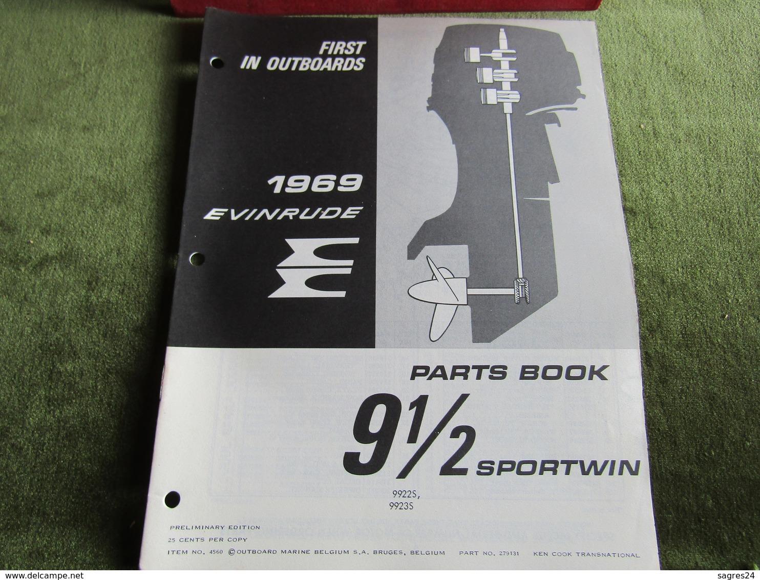 Evinrude Outboard 91/2 Sportwin Parts Book 1969 - Boats