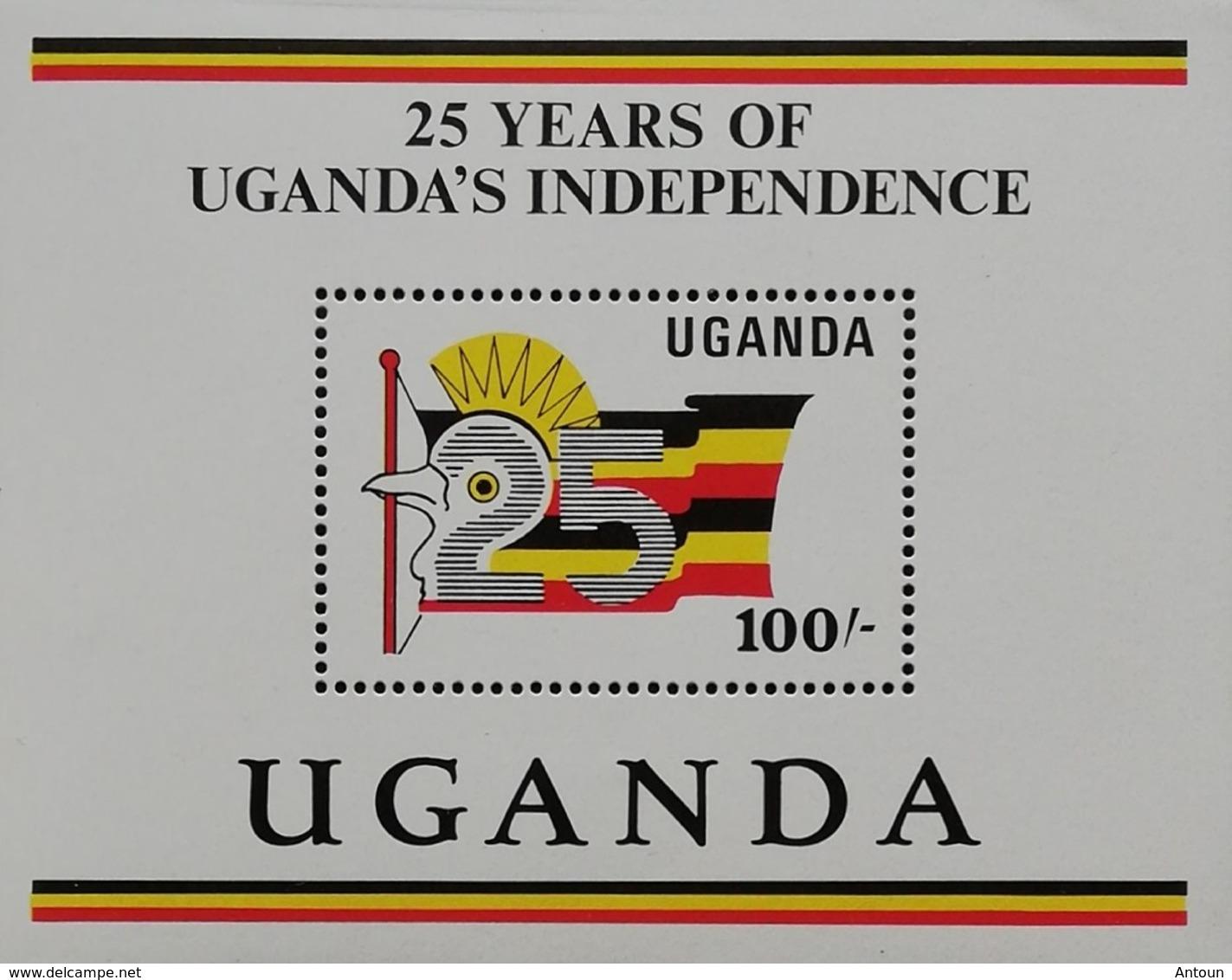 Uganda  Natl. Independence 25th. Anniv. S/S - Uganda (1962-...)