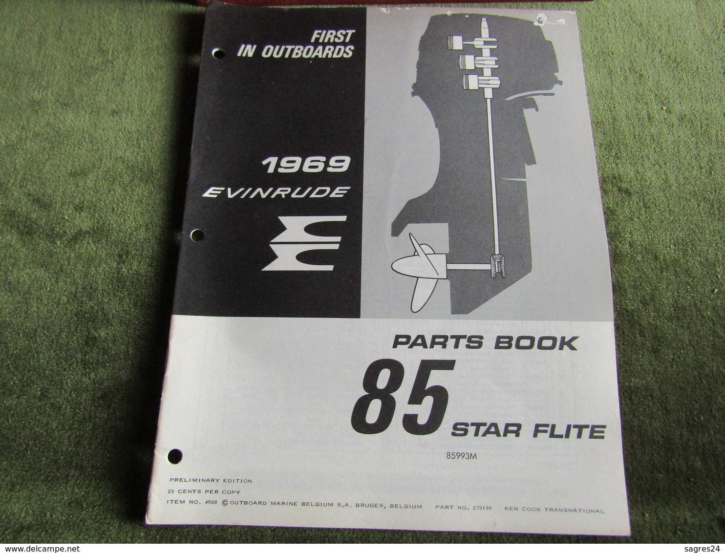 Evinrude Outboard 85 Star Flite Parts Book 1969 - Boats