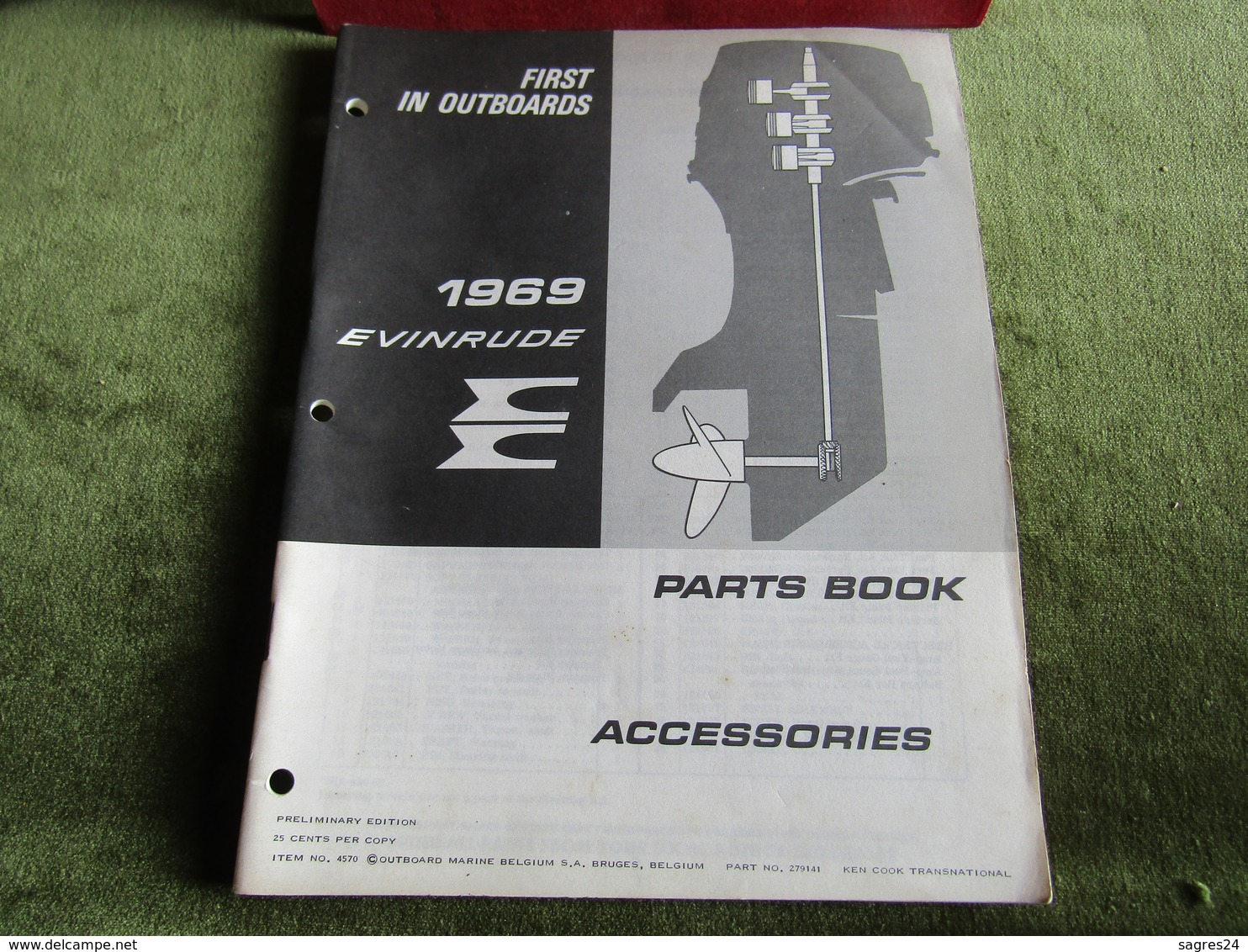 Evinrude Outboard Parts Book Accessories 1969 - Boats
