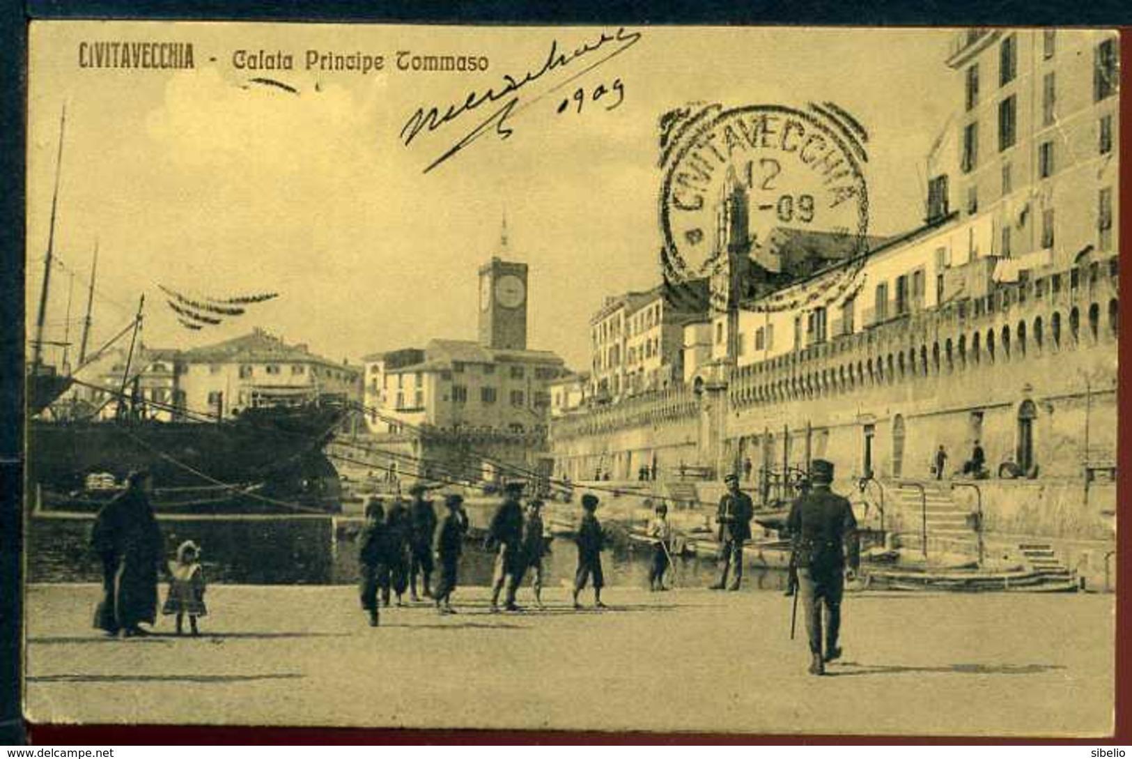 Civitavecchia - Calata Principe Tommaso - Viaggiata 1909 - Rif. 16050 - Altre Città