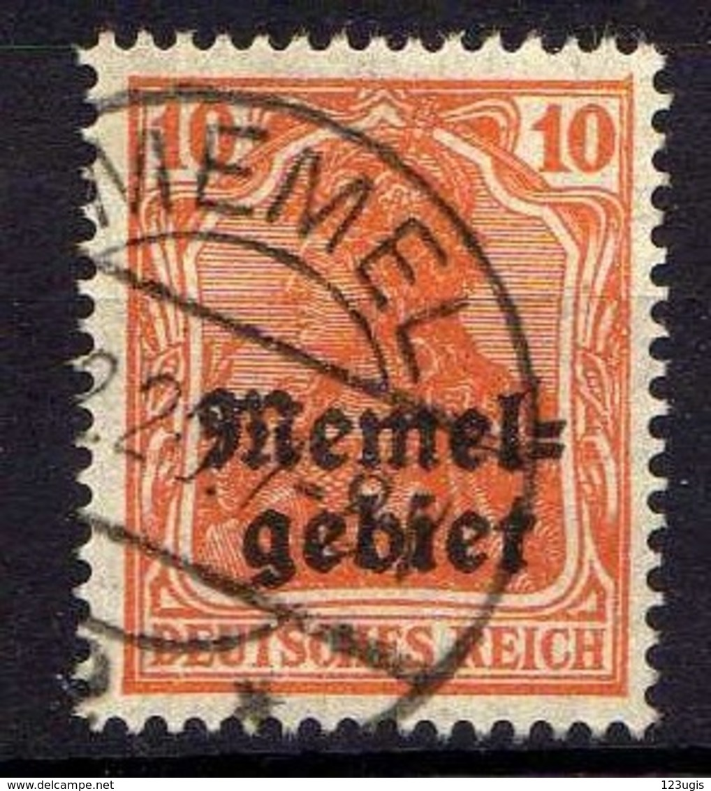 Memel 1920 Mi 14, Gestempelt [120119XXII] - Memelgebiet