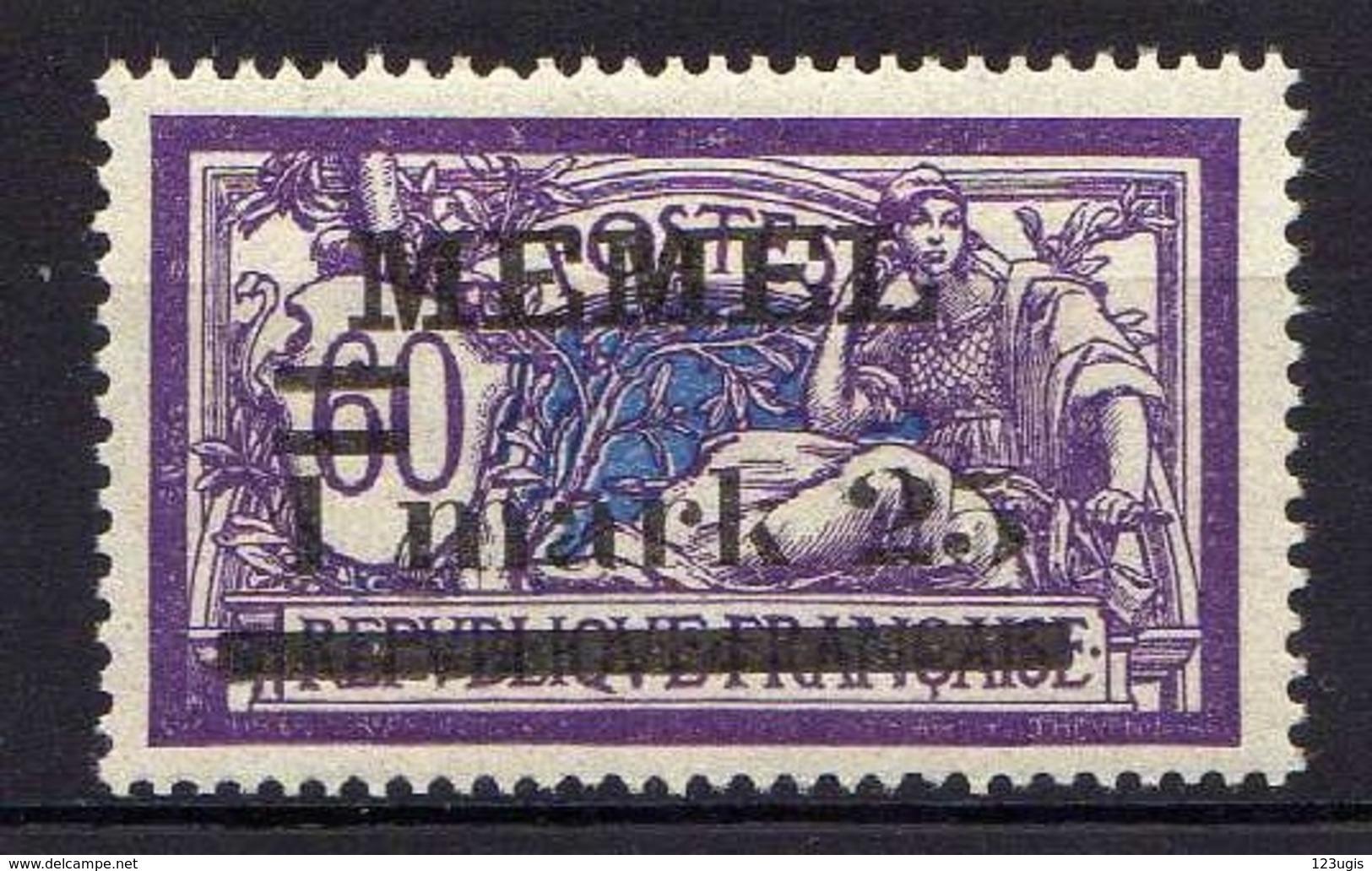 Memel (Klaipeda) 1920 Mi 27 Y * [120119XXII] - Memelgebiet