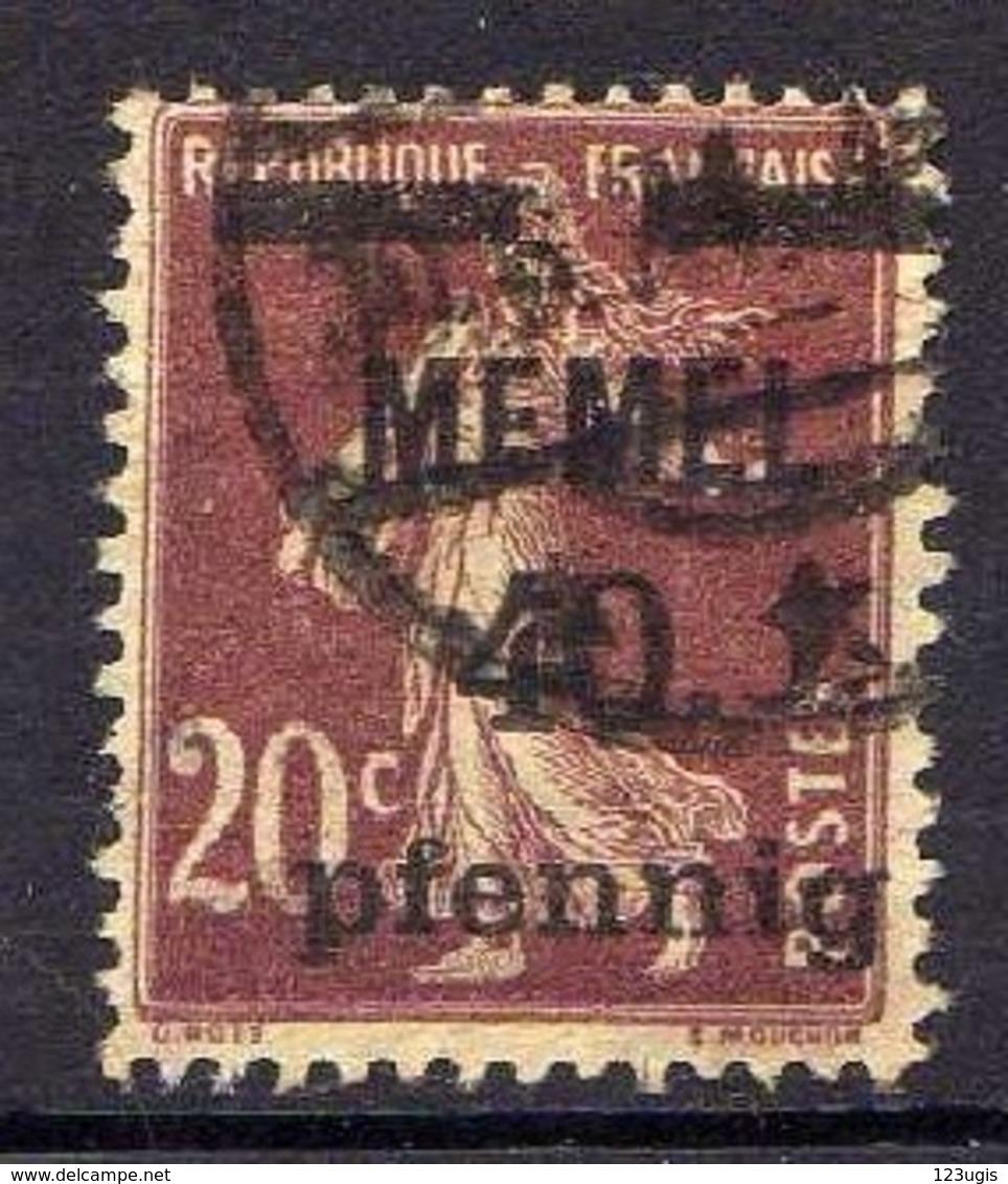 Memel 1920 Mi 22 B, Gestempelt [120119XXII] - Memelgebiet
