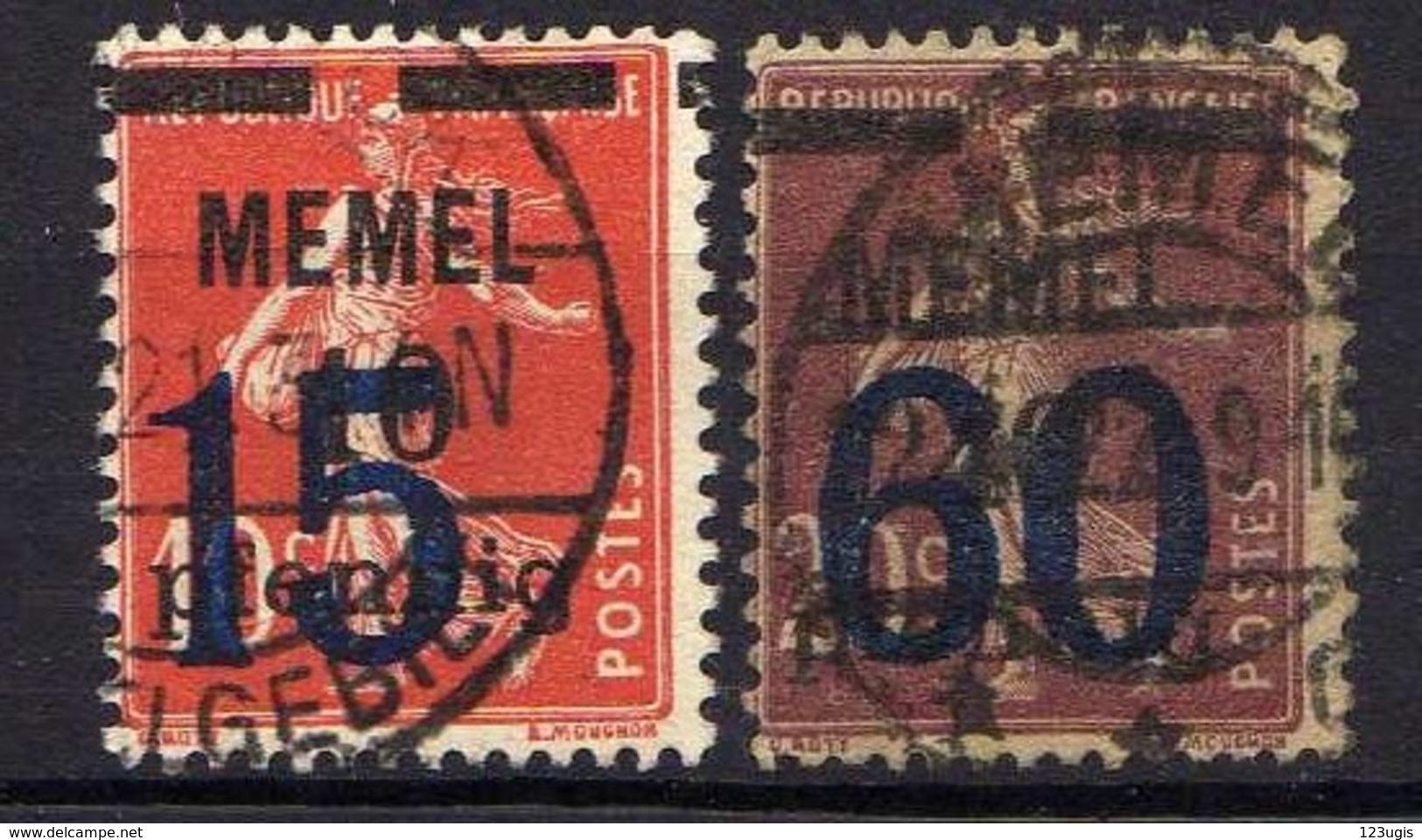 Memel 1921 Mi 34-35, Gestempelt [120119XXII] - Memelgebiet