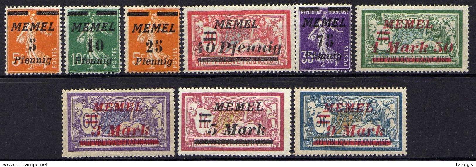 Memel (Klaipeda) 1922 Mi 52-53; 58; 60; 62; 66; 68-69; 71 * [120119XXII] - Memelgebiet