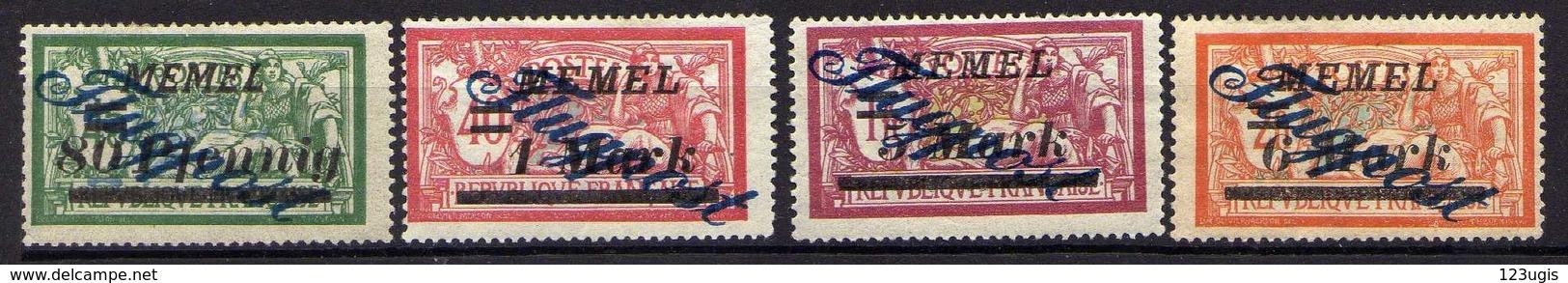 Memel 1922 Mi 73-74; 81-82 *, Flugpost / Air Mail [120119XXII] - Memelgebiet