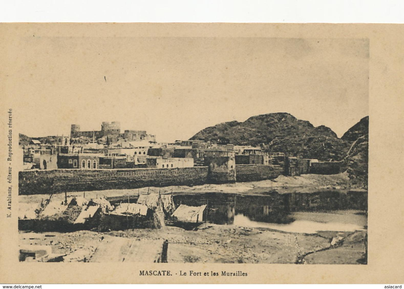 Mascate Le Fort Et Les Murailles  Edit K. Arabiantz - Oman