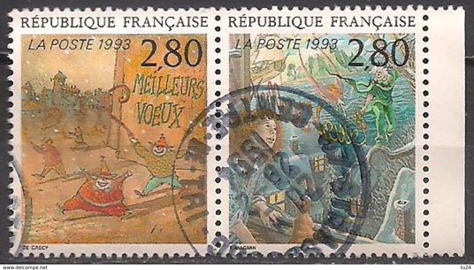 Frankreich  (1993)  Mi.Nr.  2990 + 2991 C  Gest. / Used  (8ae61) - Frankreich