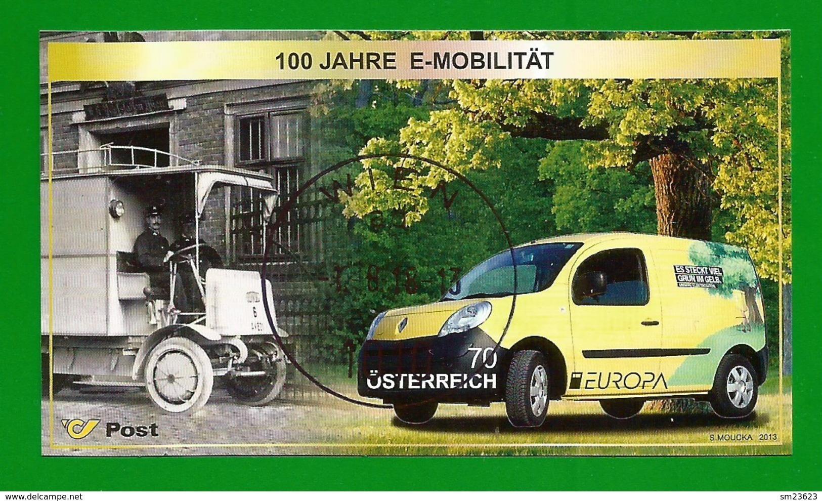 Österreich  2013   Mi.Nr. 3070 (Block 70) , EUROPA CEPT - Postfahrzeuge - Gestempelt / Used / (o) - 1945-.... 2. Republik
