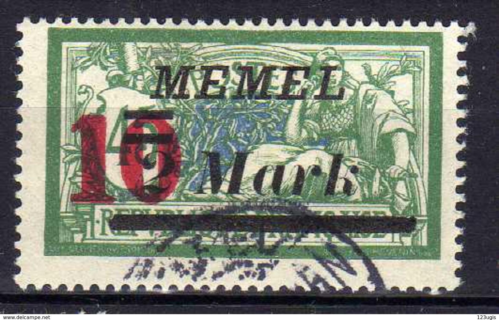 Memel 1923 Mi 121, Gestempelt [120119XXII] - Memelgebiet