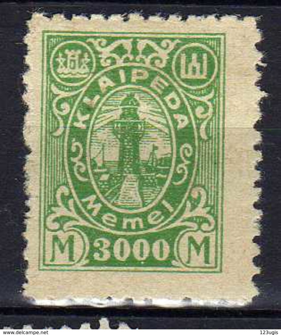 Memel / Klaipeda 1923 Mi 163 * [120119XXII] - Memelgebiet
