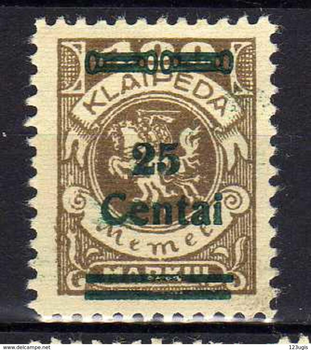 Memel / Klaipeda 1923 Mi 220 * [120119XXII] - Memelgebiet