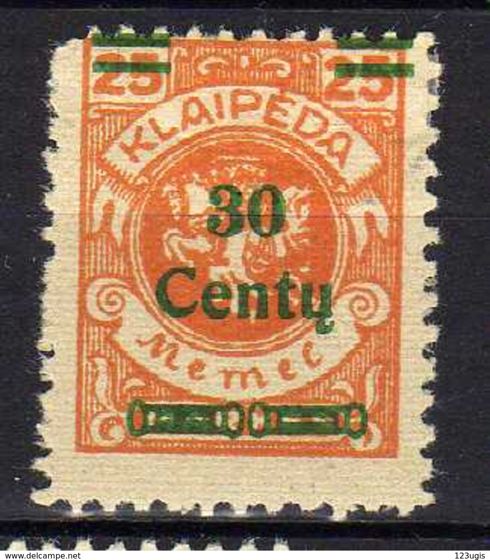 Memel / Klaipeda 1923 Mi 224 * [120119XXII] - Memelgebiet