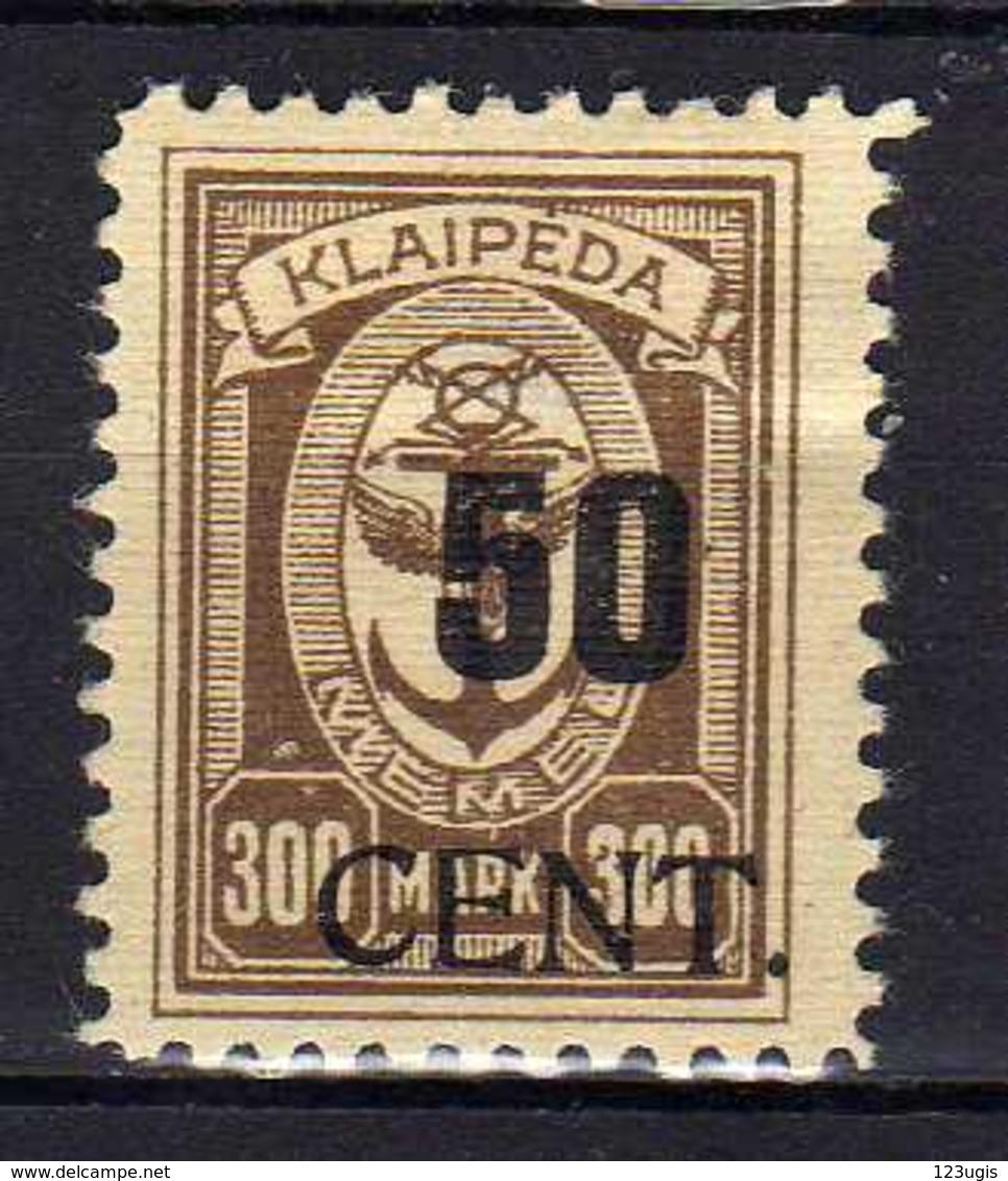 Memel / Klaipeda 1923 Mi 198 * [120119XXII] - Memelgebiet