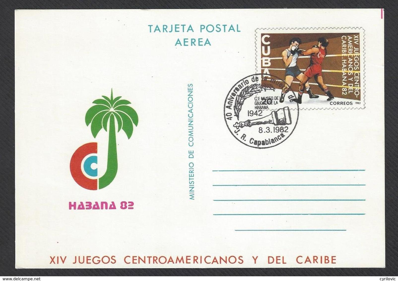 Chess, Cuba Havana, 08.03.1982, Special Cancel On Card, 40th Anniversary Death Of Capablanca - Schaken